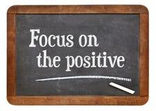 Fokus auf dem Positiv lizenzfreie stockfotos