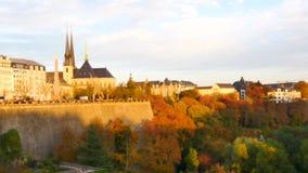 Fokus auf der Stadt von Luxemburg stock footage