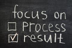 Fokus auf Ergebnis Stockfotos