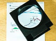 Fokus auf Golddiagramm Lizenzfreie Stockfotos