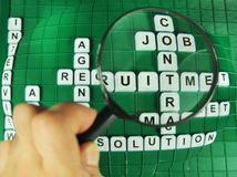 Fokus auf Jobs Stockfotografie