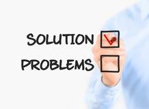 Fokus auf Lösung Lizenzfreies Stockbild