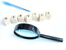 Fokus auf Service lizenzfreie stockbilder