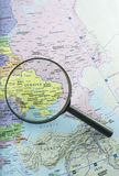 Fokus auf Ukraine Lizenzfreie Stockfotografie