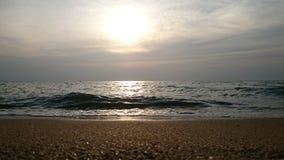 Fokus auf Welle auf dem Vordergrund Stockfotos