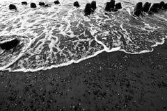 Fokus auf Welle auf dem Vordergrund Stockfotografie