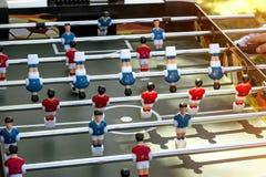 Fokus för närbild för tabellfotbolllek selektiv royaltyfri fotografi