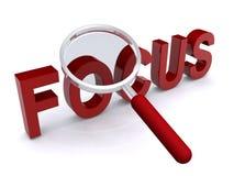 fokus förstorat ord Arkivfoton