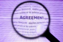 fokus för begrepp för överenskommelseaffärskoncentrat Fotografering för Bildbyråer