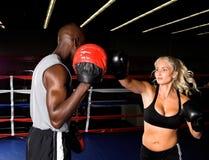 Fokus-Handschuh-Training Lizenzfreie Stockbilder