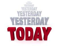 Fokus an heute, nicht gestern Lizenzfreie Stockbilder