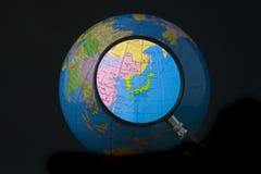 fokus japan korea Arkivfoton