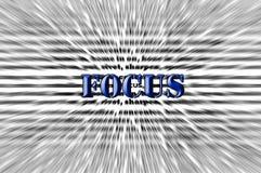Fokus - Meißeleffekt - blauer Schrifttyp vektor abbildung