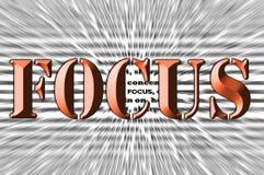 Fokus - Meißeleffekt - Brown-Schrifttyp stock abbildung