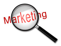 Fokus på marknadsföring arkivbilder
