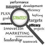 Fokus på strategi Royaltyfri Bild
