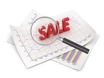 Fokus till försäljningen Arkivbild