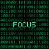 Fokus-Wort Lizenzfreie Stockfotos