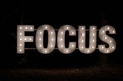 Fokus-Zeichen Lizenzfreie Stockfotos