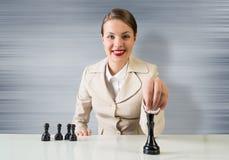 Fokusen är endast på ordaffärsstrategin, i red Royaltyfria Foton