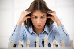 Fokusen är endast på ordaffärsstrategin, i red Royaltyfria Bilder