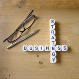 Fokusen är endast på ordaffärsstrategin, i red Fotografering för Bildbyråer