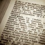 fokusen föreställer selektivt ord Arkivbilder