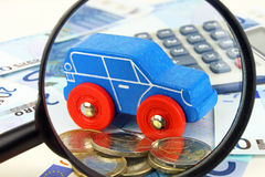 Fokusera på bilfinans Royaltyfria Bilder