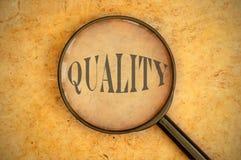 Fokusera på kvalitets- arkivbild