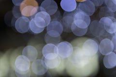 Fokuserad/suddig bild för De av ljus Suddighet lampor Ljus bokeh Royaltyfri Bild