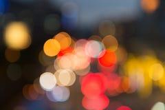 Fokuserad/suddig bild för De av ljus Suddighet lampor Ljus bokeh Royaltyfri Foto