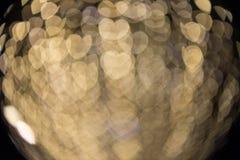 Fokuserad/suddig bild för De av ljus Suddighet lampor Ljus bokeh Royaltyfria Bilder