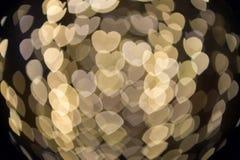 Fokuserad/suddig bild för De av ljus Suddighet lampor Ljus bokeh Arkivbilder