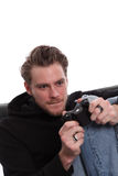 Fokuserad videogamer Royaltyfri Foto