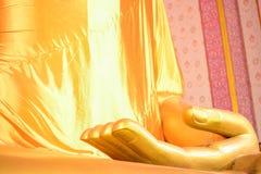 Fokusfinger Buddha-Statue Lizenzfreie Stockfotos
