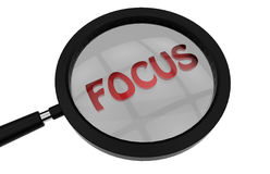 Fokuskonzept Stockfotos
