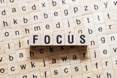 Fokusordbegrepp arkivfoton