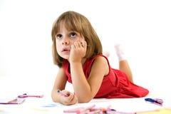 Fokussiertes kleines Mädchen Lizenzfreie Stockfotografie