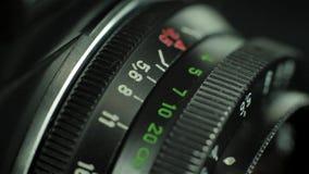 Fokussierungsring der Linse stock video footage