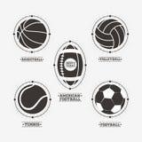 Folâtre des logos de boules, emblème Photographie stock