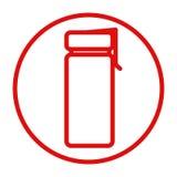 folâtre l'icône de bouteille d'eau illustration stock