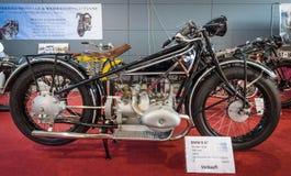 Folâtre la moto BMW R 47, 1928 Images libres de droits