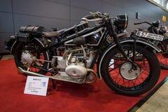Folâtre la moto BMW R57, 1928 Photo libre de droits
