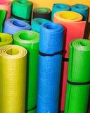 Folâtre le fond A roulé les couvertures colorées de sports image stock