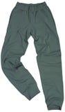 Folâtre le pantalon de survêtement d'isolement sur le fond blanc Photo stock