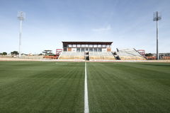 Folâtre le stade avec l'herbe verte Photo libre de droits