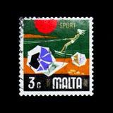 Folâtrez, des aspects de serie de Malte, vers 1973 photo libre de droits