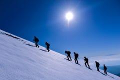 Folâtrez s'élever, activité et Mountain View fascinants photo stock