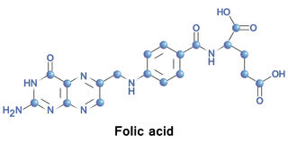 Folato dell'acido folico Immagine Stock