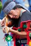 Folclore azteca en el cuadrado de Zocalo, Ciudad de México Fotos de archivo